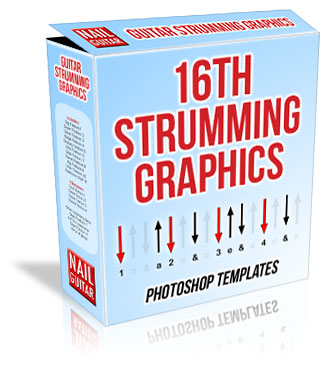 Guitar Strumming Graphics box - 16th