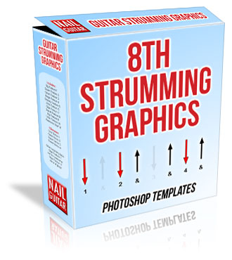 Guitar Strumming Graphics box - 8ths