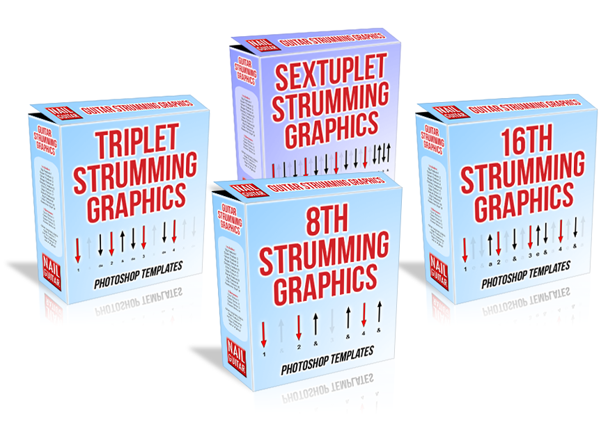 Strum Diagrams Software Templates - Guitar Strumming Graphics box - http://www.GuitarStrummingGraphics.com