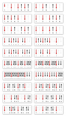 20 Guitar Strumming Diagrams For Youtube Lessons & Class Tutorials